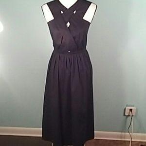 NWT Asos 6 Navy MIDI strappy crossover front dress